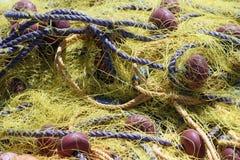 Yellow fishing net Royalty Free Stock Photos