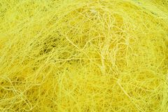Yellow Fishing Net. Close-up of cord from folded fishing net, which may be suitable as a texture or background Stock Photography