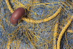 Yellow fishing net Royalty Free Stock Photo