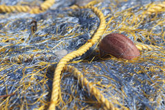 Yellow fishing net Royalty Free Stock Photography