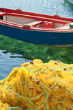 Yellow fishing nets Stock Photos