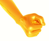 yellow fist Stock Image