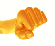 yellow fist. Indication strong business spirit Royalty Free Stock Photography