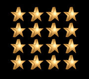 Yellow five pointed star Royalty Free Stock Photo