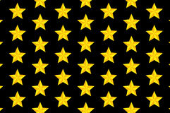 Yellow five-pointed star - vector pattern Stock Photo