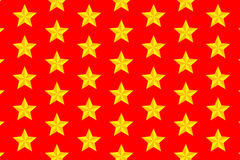 Yellow five-pointed star - vector pattern Stock Image