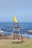Yellow flag, caution Stock Image