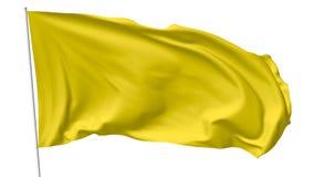 Yellow flag on flagpole Stock Photos