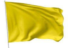 Yellow flag on flagpole Stock Image
