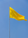 Yellow flag Royalty Free Stock Photo