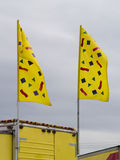 Yellow Flags Stock Photo