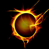 Yellow Flame Stock Photo
