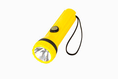Yellow flash light. With white background Royalty Free Stock Photography