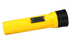 Yellow flashlight Stock Photography