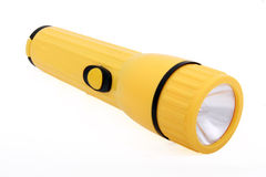 Yellow flashlight Stock Photos