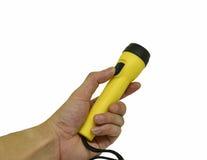 Yellow flashlight Royalty Free Stock Images