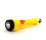 Yellow flashlight Stock Photo