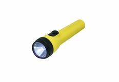 Yellow flashlight Stock Image
