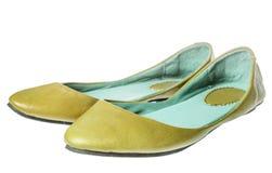 Yellow flat shoes Stock Photo