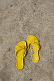 Yellow Flip-Flops Royalty Free Stock Images