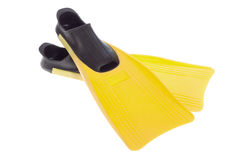 Yellow Flippers Stock Image