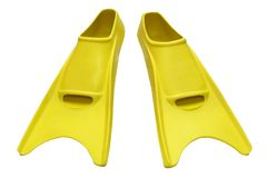 Free Yellow Flippers On White Royalty Free Stock Photos - 5427828