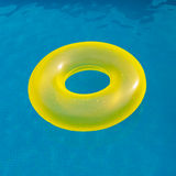 Yellow floater on the pool Royalty Free Stock Images