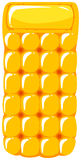Yellow floating mat on white background Royalty Free Stock Images