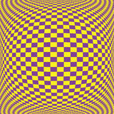 Yellow floor pattern on purple square on convexity Royalty Free Stock Photo