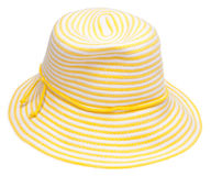 Yellow Floppy Beach Hat Stock Photo