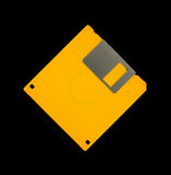 Yellow floppy disk Royalty Free Stock Image