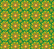 Yellow flora backgrounds texture seamless patterns Stock Photography