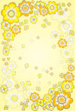 Yellow floral Royalty Free Stock Images