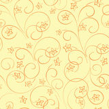 Yellow floral vector background - seamless pattern with flowers. Yellow floral background - vector seamless pattern with flowers vector illustration