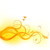 Yellow floral design. On a white background vector illustration