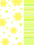 Yellow floral design Stock Photos