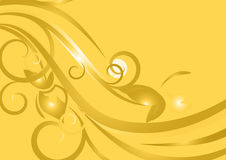 Yellow floral design. A floral design in a yellow background Royalty Free Stock Photo