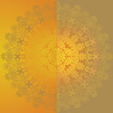 Yellow floral design Stock Photography