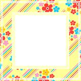 Yellow floral frame Royalty Free Stock Photography