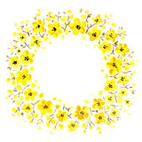 Yellow floral frame Stock Photo
