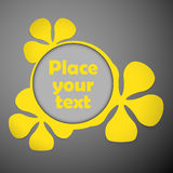Yellow floral frames text plastic Stock Photo