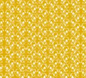 Yellow floral pattern. White and yellow floral decorative pattern Stock Image