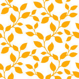 Yellow floral pattern. Royalty Free Stock Images