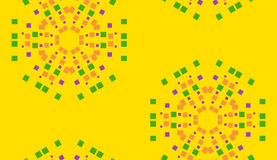 Yellow Floral Pixel Background Stock Photo