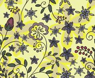Yellow floral seamless background Royalty Free Stock Photo