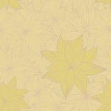 Yellow floral seamless Stock Photo