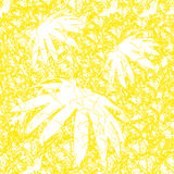 Yellow floral seamless background. The background is composed of the edges of the flowers royalty free illustration