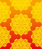 Yellow floral seamless patterm Stock Photo