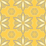 Yellow floral seamless pattern. Background with flower design. S for wallpapers, textile and fabrics stock illustration