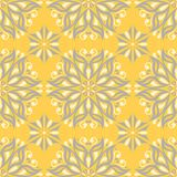 Yellow floral seamless pattern. Background with flower designs. For wallpapers, textile and fabrics Stock Image